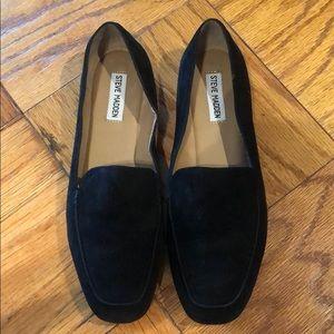 Steve Madden Black Suede Loafers